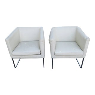 Mid Century Modern Milo Baughman Style Side Chairs - a Pair 2309 For Sale