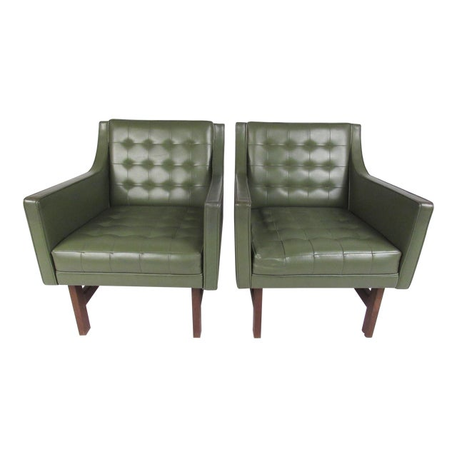 Mid-Century Club Chairs- A Pair For Sale