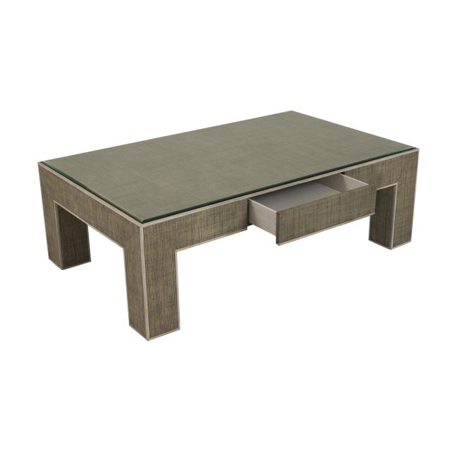 Not Yet Made - Made To Order Century Furniture Newport 1 Drawer Coffee Table, French Grey and Peninsula For Sale - Image 5 of 6