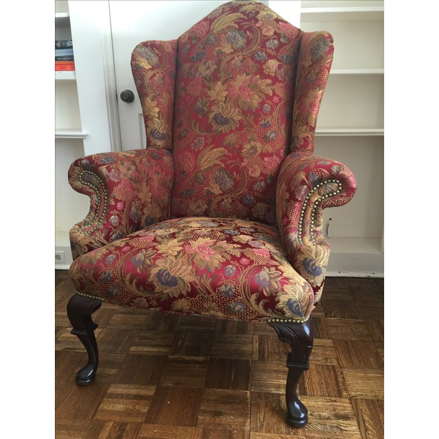 Antique Wingback Chair - Image 2 of 7