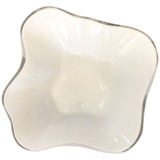Alvar Aalto Cased White Glass Centerpiece Bowl For Sale