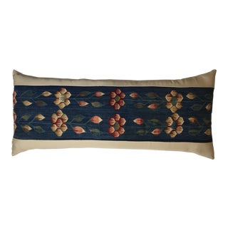 Vintage Floral Rug Fragment Pillow