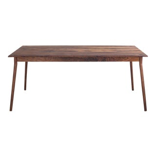 Mid-Century Modern Fernweh Woodworking Black Walnut Dining Table For Sale