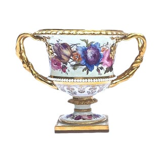 Antique Floral Urn Cachepot For Sale