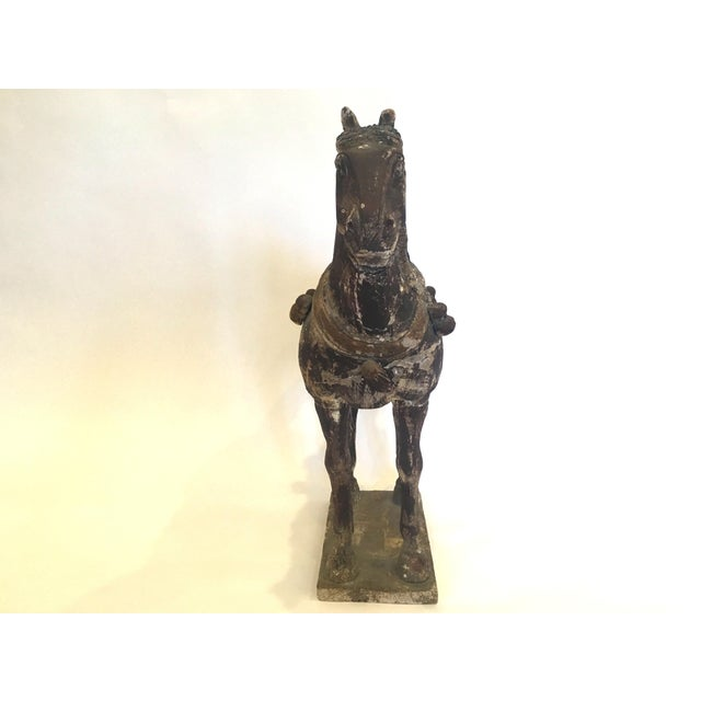 Hand Carved Painted Wooden Horse - Image 6 of 7