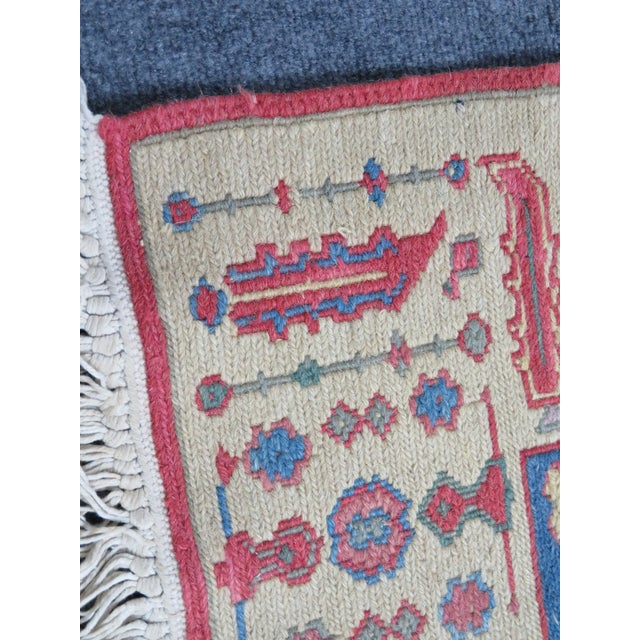 Mediterranean Hand Made Geometric Medallion Rug 3′1″ × 5′6″ For Sale - Image 3 of 5