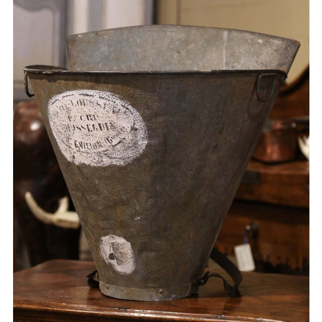 Decorate a wine cellar with this antique, metal grape harvest basket. Created in Southwest, France circa 1870, the unique...