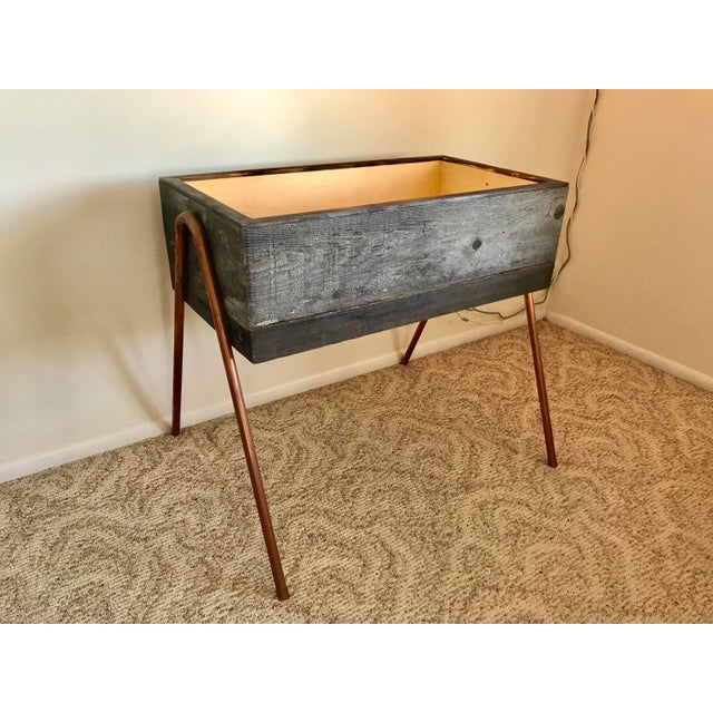 Reclaimed Wood & Copper Baby Bassinet - Image 4 of 5