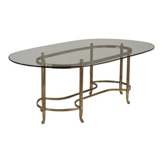A Large Brass Based Brass Desk/Centre Table 1960s For Sale