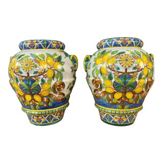 Pair of Vintage Monumental Italian Garden Planters For Sale