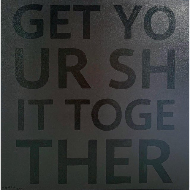 """Contemporary John O'Hara """"Get Your Shit Together"""" Limited Edition Hand Painted Print For Sale - Image 3 of 5"""