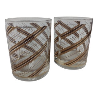 Vintage Culver 22-Karat Gold Glassware - a Pair For Sale