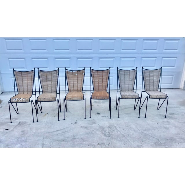 Set of 6 Mid-Century Ficks Reed Bamboo and Metal Chairs For Sale - Image 13 of 13