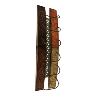 Contemporary Metal Wall-Mounted Wine Rack For Sale