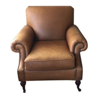Leather Pottery Barn Lounge Chair For Sale