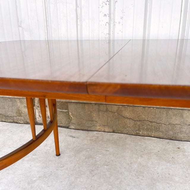 Mid-Century Dining Table With Two Leaves For Sale - Image 10 of 13