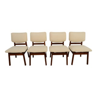 1950s Vintage Jens Risom Mid-Century Modern Dining Chairs - Set of 6 For Sale