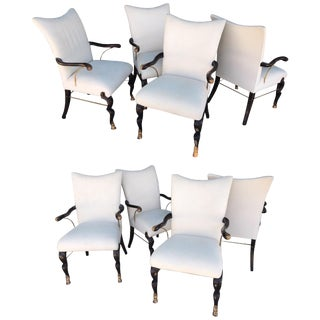 Vintage Hollywood Regency Custom Dining Chairs From Steve Chase Estate - Set of 8 For Sale