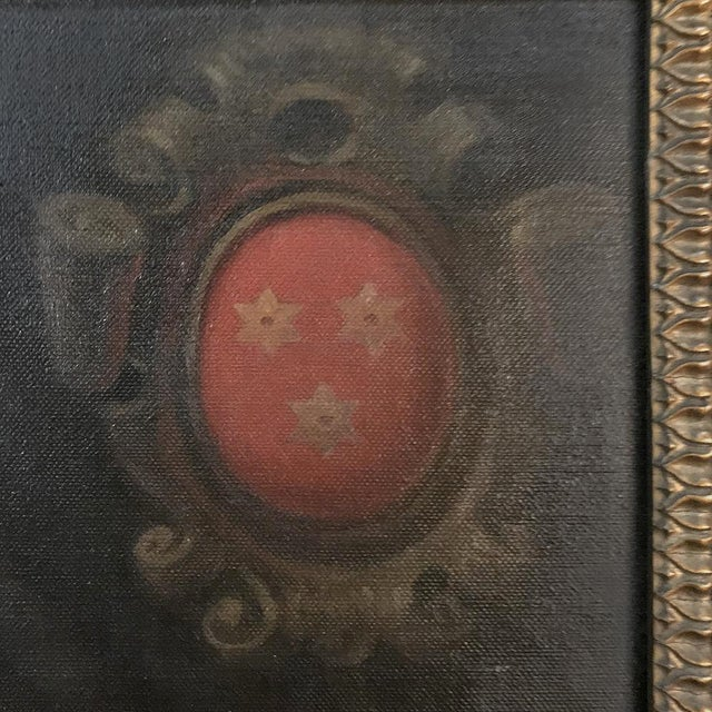 18th Century Framed Oil Portrait on Canvas For Sale In Dallas - Image 6 of 12
