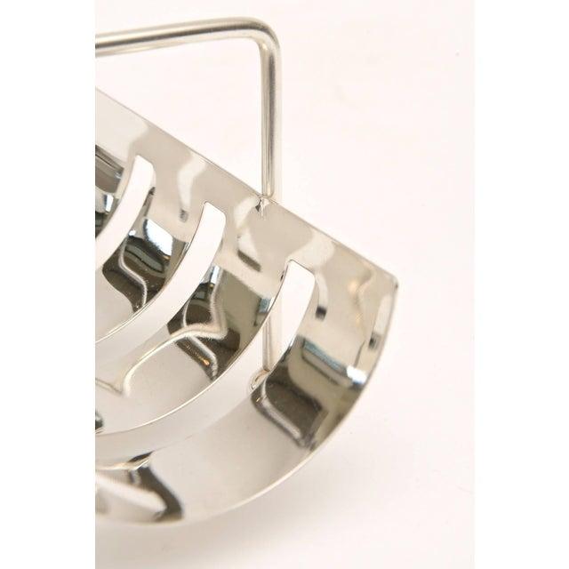 Italian Modernist Silver Plate Baguette Holder For Sale - Image 9 of 10