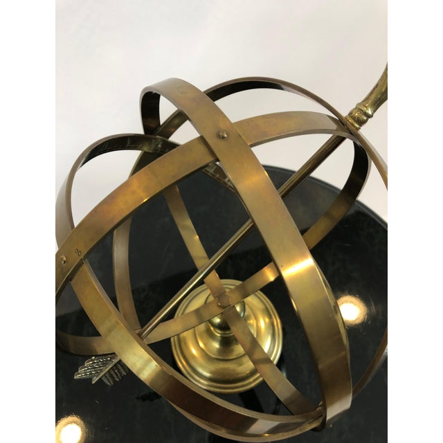Brass Neoclassical Brass Armillary For Sale - Image 8 of 10
