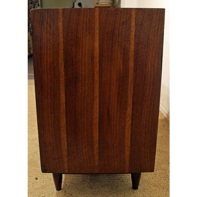 Mid-Century Danish Modern Walnut Sliding Door Floating Base Credenza - Image 6 of 11