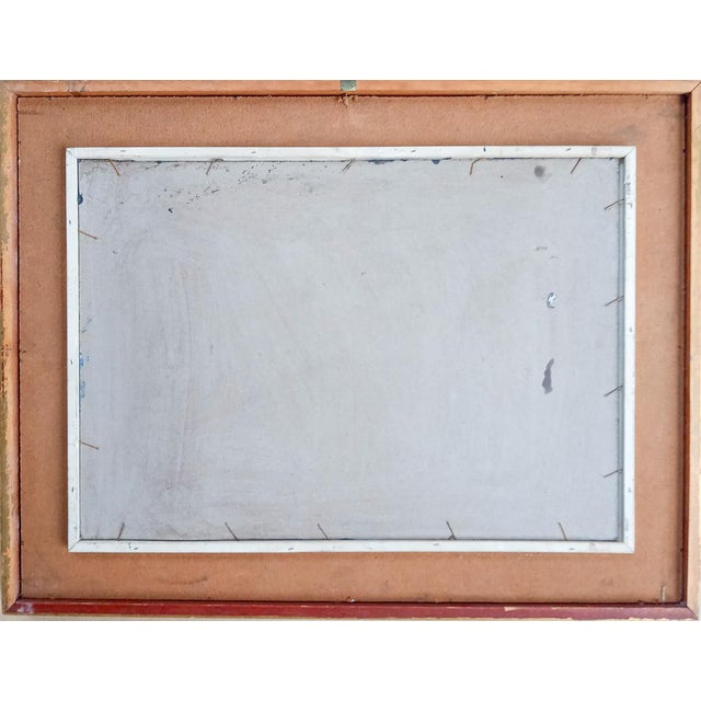 Mid 20th Century Text Oil Painting, Framed For Sale In Atlanta - Image 6 of 7
