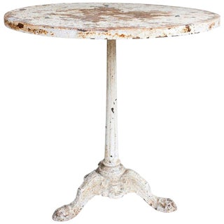 Rustic Cast Iron & Metal Bistro Table