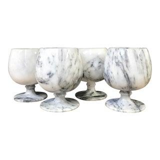 Vintage Onyx Glasses, Set of 4 For Sale