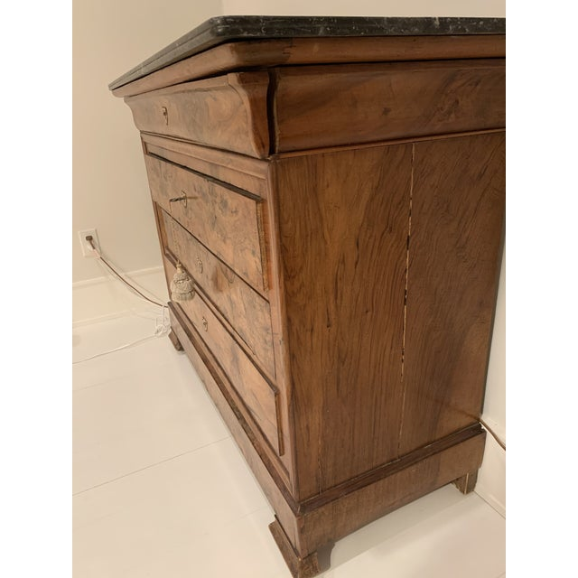 Louis Philippe Burl Walnut Chest of Drawers For Sale - Image 4 of 8