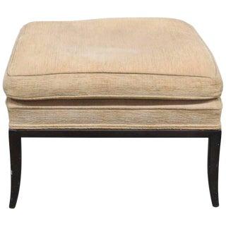 Regency Style Upholstered Footstool For Sale