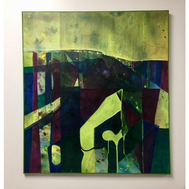 Abstract Oil on Canvas Painting by Margie Cameron For Sale - Image 4 of 4