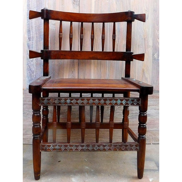 African Chieftan Inspired Chair - Image 2 of 5