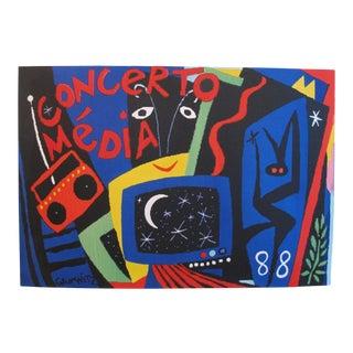 1988 Original Vintage French Poster - Concerto Media For Sale