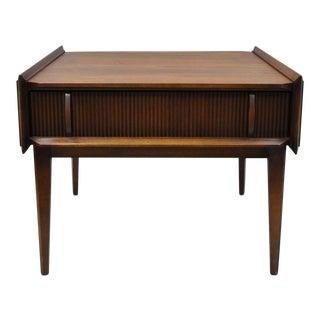 Lane Walnut & Rosewood End Table