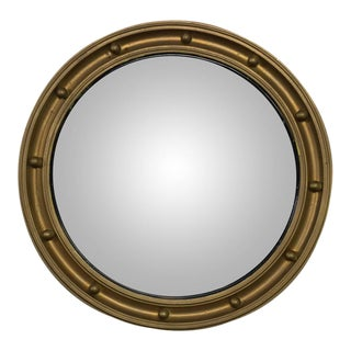 Late 19th Century Small Convex Mirror in Painted Wood Frame For Sale