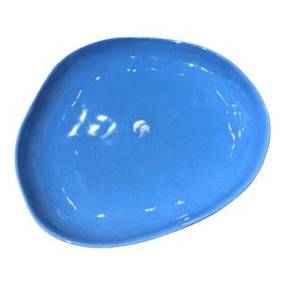Wabi Sabi Cerulean Blue Dish (3 Available) For Sale