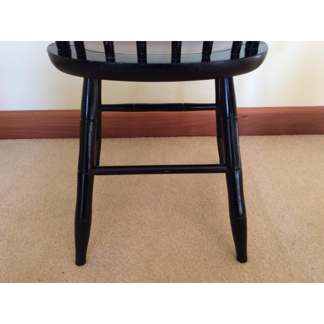 Hitchcock Country Side Chair in Black With Harvest Stained Seat For Sale In Columbus - Image 6 of 11