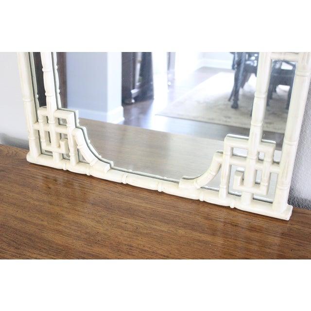 Vintage Greek Key Faux Bamboo Mirror - Image 5 of 11