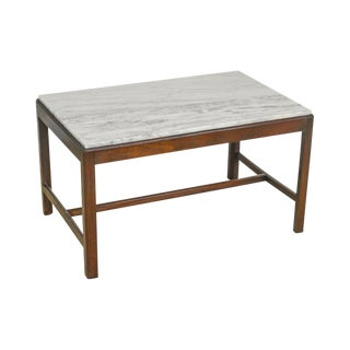 Custom Mahogany Chippendale Style English Mahogany Marble Top Mixing Coffee Table For Sale