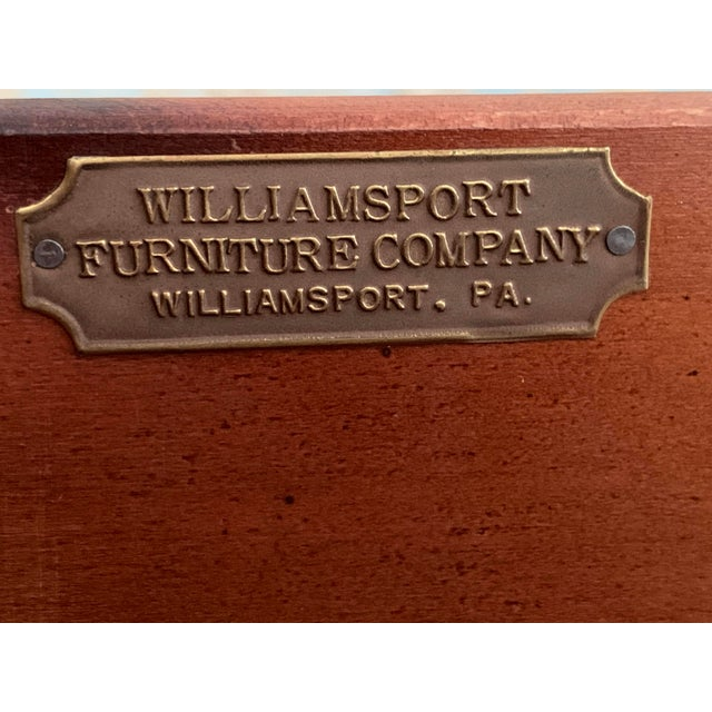 Early 20th Century Williamsport Furniture Company Chinese Chippendale Vanity with Mirror and Bench For Sale - Image 11 of 13