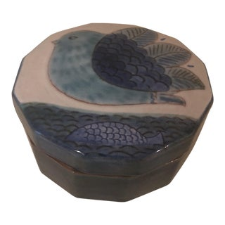 Robert & Jean Cloutier Ceramic Box For Sale