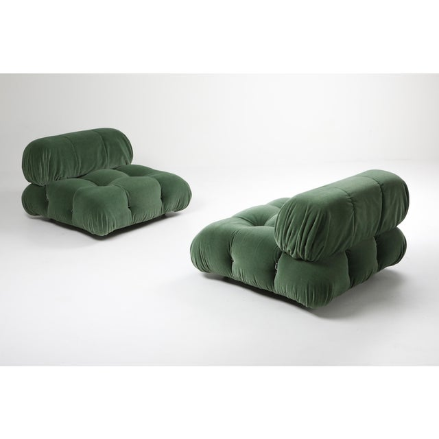 1970s 1970s Mario Bellini Camaleonda Lounge Chair in Pierre Frey Mohair For Sale - Image 5 of 9