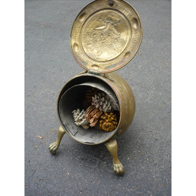 Antique Brass Coal Scuttle - Image 5 of 7