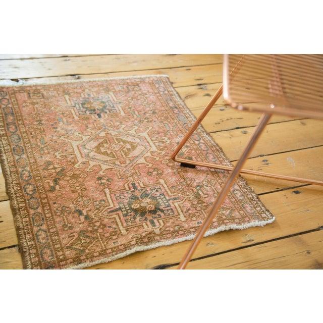 "Vintage Persian Karaja Square Mat - 2' x 2'5"" - Image 6 of 6"