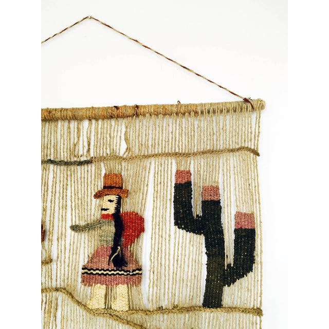 Vintage Peruvian Woven Wall Hanging - Image 5 of 6