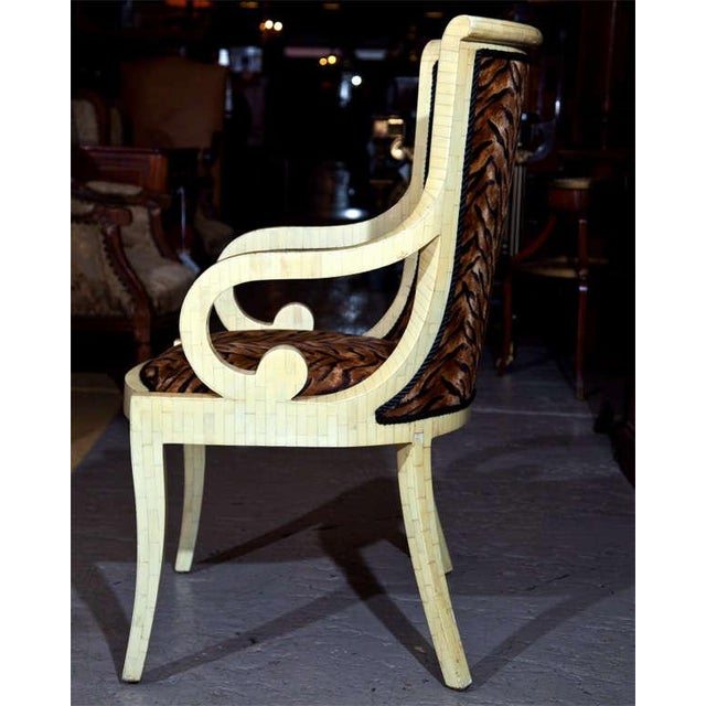 Enrique Garcel Off White Bone Arm Chairs, Signed-Pair Of. - Image 8 of 10