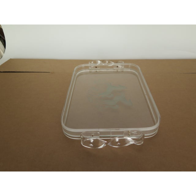 1970's Plexiglas Tray For Sale - Image 4 of 5