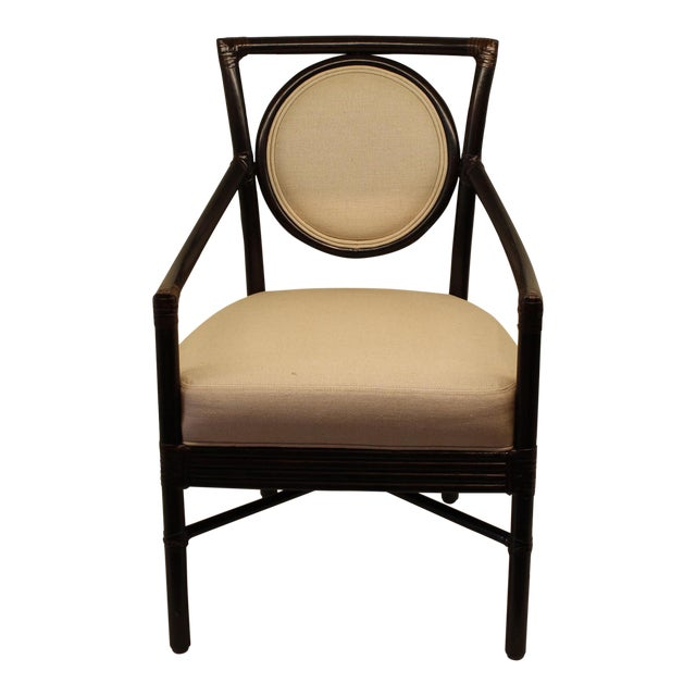 McGuire Orlando Diaz-Azcuy Salon Arm Chair - Image 1 of 6