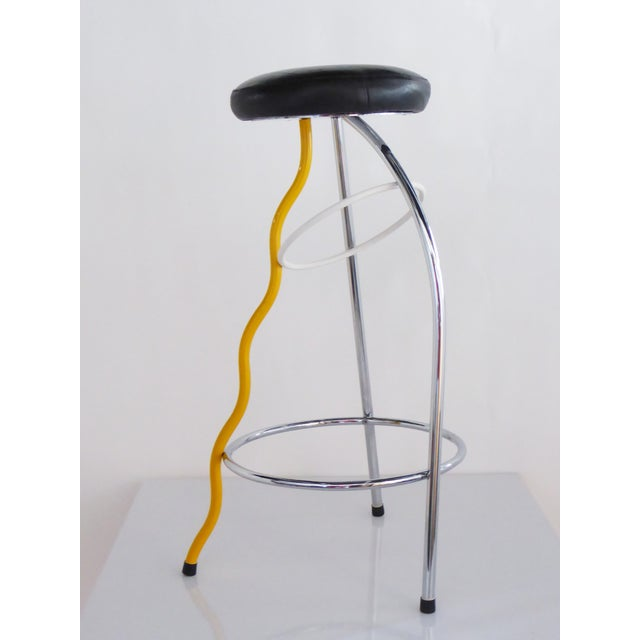 Memphis Duplex Stool by Javier Mariscal Spain, Late 1970s For Sale - Image 10 of 12